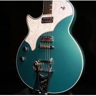 TV Jones Lefty Spectra Sonic Supreme Metallic Teal Guitar W/Hardshell Case