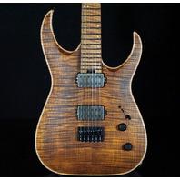 Jackson USA Mansoor Juggernaut HT6 Fm Amber Tiger Eye Guitar (Actual Guitar)