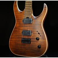 Jackson USA Mansoor Juggernaut HT6 Fm Amber Tiger Eye Guitar W/Hardshell Case Mint 2018