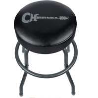 Charvel Logo 24'' Black And Gray Bar Stool