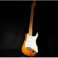 Fender Eric Johnson Thinline Stratocaster Sunburst Maple Neck Guitar Mint