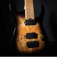 Jackson Pro Misha Mansoor Juggernaut HT7 Black burst Burl Guitar