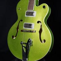 Gretsch G6120T-HR Extreme Coolant Green Sparkle Setzer Hot Rod Guitar Mint