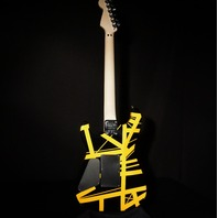 EVH Striped Series Black With Yellow Stripe Guitar