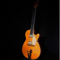 Gretsch USA G6128CS Custom Orange Flame Top Nashviille Guitar