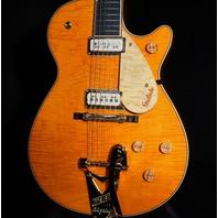Gretsch USA G6128CS Custom Orange Flame Top Nashviille Guitar