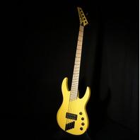 Jackson Custom Hellion Masterbuilt Namm Show 5 String Bass Graffiti Yellow