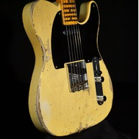 Fender Lmt 70TH Anniversary Broadcaster Heavy Relic Aged Nocaster Blonde Guitar