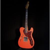 Fender Lmt Ed '60S Custom Thinline Journyman Telecaster Aged Fiesta Red Guitar