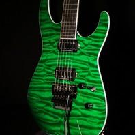 Jackson Pro Soloist SLQ Quilt Top Mahogany Trans Green Guitar