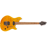 EVH Wolfgang Standard Qm Quilt Maple Trans Amber Baked Maple Neck Guitar