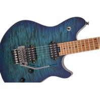 EVH Wolfgang Standard Qm Quilt Maple Chlorine Burst Baked Maple Neck Guitar