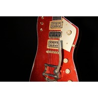 Gretsch USA Custom Shop Billy Bo Falcon Red Sparkle Heavy Relic Guitar