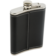 Gretsch (2-Pack) Stainless Steel and Black Leather 1883 Gretsch Logo Flask