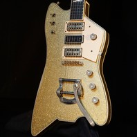 Gretsch USA Custom Shop Billy Bo Falcon Gold Sparkle Heavy Relic Guitar
