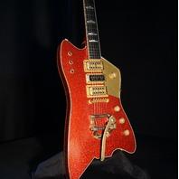Gretsch USA Custom Shop Billy Bo Falcon Red Sparkle Heavy Relic Guitar