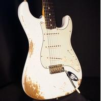 Fender Custom Shop '60 Stratocaster Heavy Relic Aged Olympic White Guitar