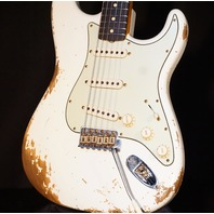 Fender Custom Shop '60 Stratocaster Heavy Relic Aged Olympic White Guitar