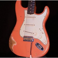 Fender Custom Shop '59 Stratocaster Heavy Relic Faded Tahitian Coral Guitar CZ543188