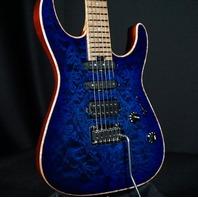 Charvel USA Custom Select DK24 2PT HSS Blue Burst Dinky Guitar