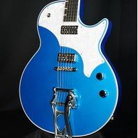 TV Jones Spectra Sonic Supreme Laser Blue Metallic Guitar W/Hardshell