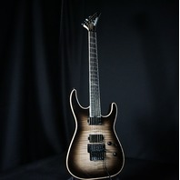 Jackson Wild Card Series SL2 FM Flamed Trans Black Soloist Guitar (In Stock)