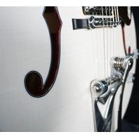 Gretsch USA Custom Shop G6120CS  Trans White Flamed Maple Nashville Guitar