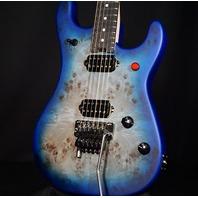 EVH 5150 Series Deluxe Poplar Burl Aqua Burst Guitar EVH2003028