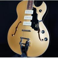 Guild Starfire I Jet 90 Guitar Semi Hollow Satin Gold Top