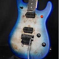 EVH 5150 Series Deluxe Poplar Burl Aqua Burst Guitar EVH2003072