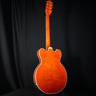 Gretsch G6620TFM Players Edition Center Block Orange Flame Guitar JT20010399