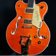 Gretsch G6620TFM Players Edition Center Block Orange Flame Guitar JT20010399