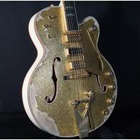 Gretsch USA Custom Shop Falcon Gold Sparkle Top Brooklyn Heavy Relic Guitar