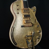 Gretsch USA Custom Shop Penguin Gold Sparkle Top Brooklyn Heavy Relic Guitar