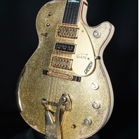 Gretsch USA Custom Shop Penguin Gold Sparkle Top Brooklyn Heavy Relic Guitar