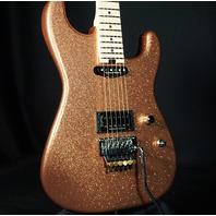 Charvel USA Custom San Dimas HS Burnt Gold Flake Guitar (Red Dave)