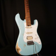 Jackson Custom  Lmt Ed Misha Mansoor So-Cal HSS 2PT Heavy Relic Daphne Blue