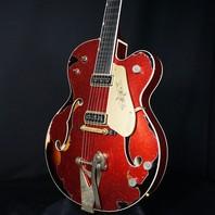 Gretsch USA Custom Shop G6120T-59 Heavy Relic Chet  Red Sparkle Over Sunburst Guitar