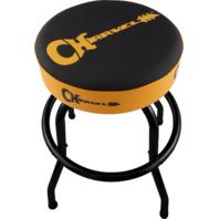 "Charvel® Guitar Logo Barstool, Black/Yellow, 30"""