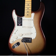 Fender American Ultra Stratocaster Lefty Guitar Mocha Burst (Actual Guitar)