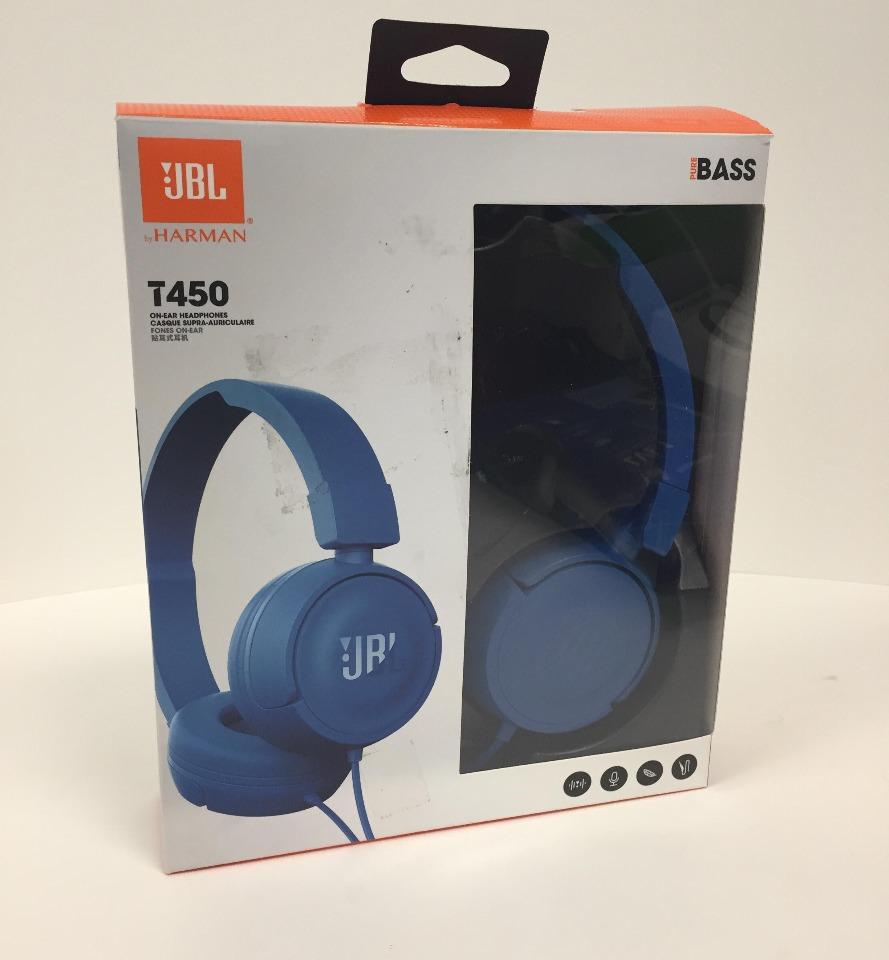 fdd8fcad8ef JBL T450 On Ear Headphones With Mic & Remote Control - Blue | eBay