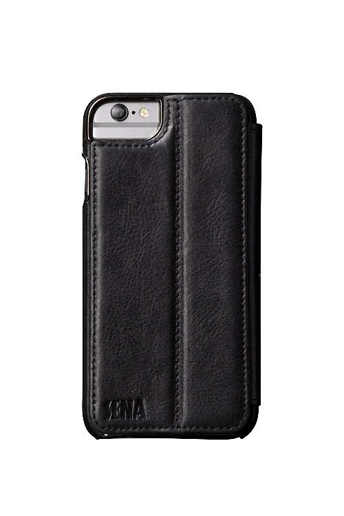 online store ed183 20848 Sena Cases Genuine Leather Wallet Book iPhone 6 Plus/6S Plus (Heritage  Black)