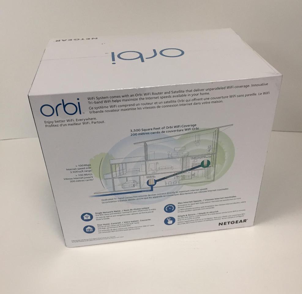 NETGEAR Orbi WiFi System RBK30 - Wi-Fi system router, extender - SEALED