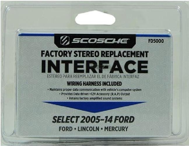 Scosche FD5000 - Select 2005 and Up Ford Stereo Replacement Interface