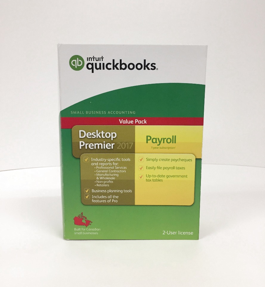 Intuit QuickBooks Desktop Premier 2017 with Payroll - English (SEALED)