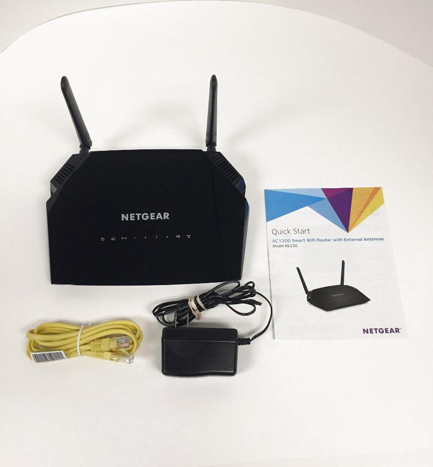 Netgear AC1200 Dual Band Smart Wifi Router, Gigabit Ethernet (R6230)