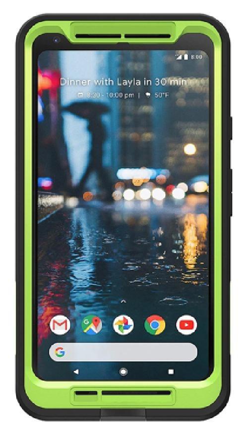 best loved 2222f 674c3 LifeProof FRE Series Waterproof Case for Google Pixel 2 XL - Black / Lime  Green