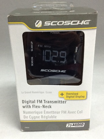 Scosche Goose Neck Fm Transmitter With Digital Display For iPod, iPhone, & Mp3