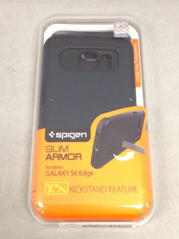 Spigen Slim Armor Galaxy S6 Edge Case w/Kickstand and Air Cushion, Metal Slate