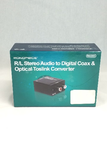 Monoprice 8127 Analog To Digital Coaxial & Digital Optical Audio Converter